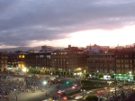 Sunset over Zocalo from the Cathedral