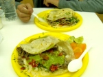 arrachera ``gringas`` (taco/quesadillas) from Taqueria Minerva